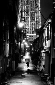 Back alley of Tokyo, Japan, near the Skytree