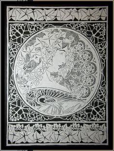Paper Cut Art Nouveau 'Ivy Leaves'