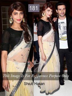 Shruti Hasan Bollywood Replica Saree at Best Price in India  #bollywoodreplicasaree #replicasaree