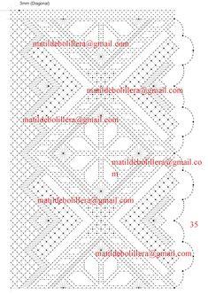 NUEVOS PICADOS PARA CHALES - Página web de matibolillera Bobbin Lace Patterns, Lacemaking, Needle Lace, Crochet Shawl, Handicraft, Tatting, Pattern Design, Bobbin Lace, Scrappy Quilts