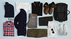Weekend In The City: Los Angeles; Seven capitals of cool, and the ultimate off-duty wardrobe for each. LA is a stylish city-but it's not exactly a dressy one, so keep things casually crisp. Start with some slim cargo pants or lighter-wash jeans, and fresh white T, leather sneakers, and a pair of shades- preferably a classic shape. It does get chilly in SoCal, so bring a thicker cardigan, which will works as a blazer also. Add a dark flannel shirt, zip-up boots, and some adventurous…