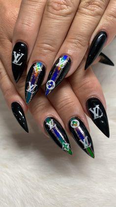Light Pink Nail Designs, Dope Nail Designs, Light Pink Nails, Funky Nails, Dope Nails, Swag Nails, Grunge Nails, Nail Art Diy, Cool Nail Art