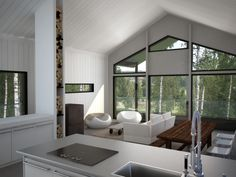 Lapponia House, interior render by Hot Snow Design, www.hotsnow.fi