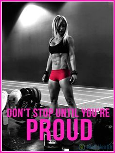 Don't stop until you're proud. Muscle Fitness, Fitness Diet, Fitness Goals, Fitness Weightloss, Female Fitness, Fitness Motivation Photo, Fit Girl Motivation, Training Motivation, Physical Fitness Program