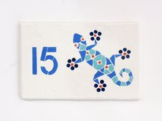 Outdoor House Number Mosaic House Number by jenzartcreations