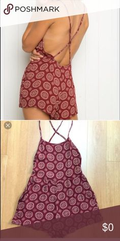 Red Brandy Melville romper Adley romper Romper brand new with tags. Open to offers Brandy Melville Other