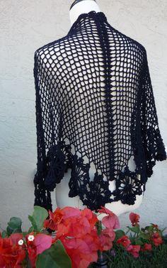 French Blue Shawl By Cristina Mershon - Free Crochet Pattern - (ravelry) ✿⊱╮Teresa Restegui http://www.pinterest.com/teretegui/✿⊱╮