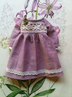 Lavender and old lace Dress for Blythe