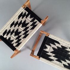 For a #textile accent #furniture in your #home, we love these #blackandwhite…