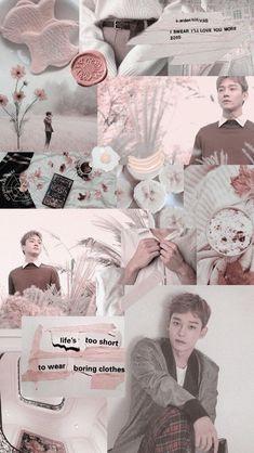 Exo Kokobop, Exo Chen, Kpop Exo, Chanyeol, Wallpapers Kpop, Cute Wallpapers, Aesthetic Collage, Kpop Aesthetic, Aesthetic Black