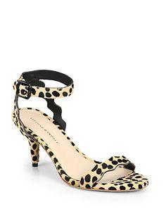Loeffler Randall - Reina Calf Hair Ankle-Strap Sandals - Saks.com