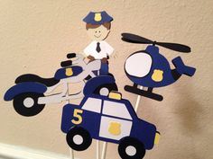 Police Theme Party Decorations. Banner by MyBabyShowerBoutique