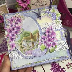 Facebook Live Mini Album Tutorial - follow along with Liz and create a mini album using the Lush Lilac Collection from Heartfelt Creations! #HeartfeltCreations #tutorial #lushlilac #minialbum #Mother'sDay #papercraft #cardmaking #scrapbooking