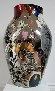 Potter Artist Grayson Perry (British: 1960) -