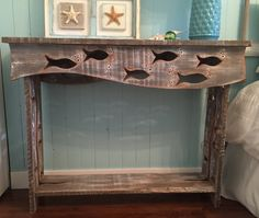 Fish Sofa Table Hall Side Console Table Driftwood by CastawaysHall