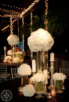 reception centerpieces maybe a different flower