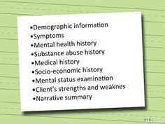 How to Write a Mental Health Assessment: 8 Steps (with Pictures) via wikiHow.com