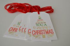 We Wish You a Merry Christmas - Christmas Gift Tags by HeathersPartySpot on Etsy https://www.etsy.com/listing/477417084/we-wish-you-a-merry-christmas-christmas