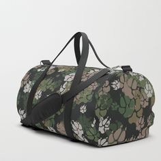 Buy Canine Camo WOODLAND Duffle Bag by grandeduc. Worldwide shipping available at Society6.com. Just one of millions of high quality products available.