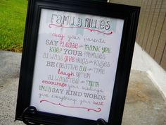 Family Rules - Printable Home Decor