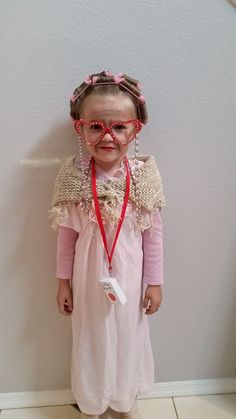 100 year old 100 Day Of School Project, 100 Days Of School, School Projects, School Fun, Dress Up Day, Kids Dress Up, Old Dresses, Event Dresses, Old Lady Costume