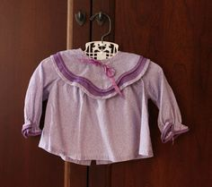 Vintage Purple Baby Girl Blouse with Wavy Collar 12 by schatzli