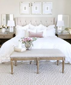 Warm Bedroom Styling Ideas 4822871020 Simply sensational help to kick-start a charming boho bedroom ideas simple Bedroom decor pinned on this day - - Simple Bedroom Decor, Warm Bedroom, White Bedroom, Home Decor Bedroom, Modern Bedroom, Bedroom Furniture, Bedroom Ideas, Pretty Bedroom, Luxury Furniture