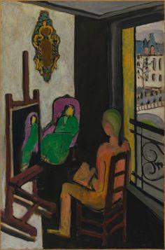 Henri Matisse: Le Peintre dans son atelier (The Painter and His Model) (1916-17) ▓█▓▒░▒▓█▓▒░▒▓█▓▒░▒▓█▓ Gᴀʙʏ﹣Fᴇ́ᴇʀɪᴇ ﹕ Bɪᴊᴏᴜx ᴀ̀ ᴛʜᴇ̀ᴍᴇs ☞  http://www.alittlemarket.com/boutique/gaby_feerie-132444.html ▓█▓▒░▒▓█▓▒░▒▓█▓▒░▒▓█▓