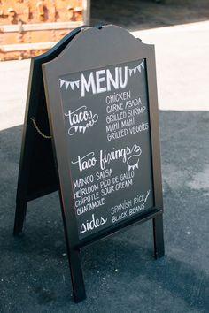 Have Some Taco Bar Fun at Your Wedding Reception food menu – Dinner Food Taco Bar Wedding, Wedding Reception Food, Wedding Catering, Wedding Menu, Fall Wedding, Food Truck Wedding, Wedding Foods, April Wedding, Chalkboard Wedding
