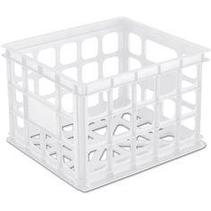 Sterilite Storage Crate, $24 for 6, 15.25 x 13.75 x 10.50, Walmart