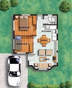 Small house floor plans great layout for a small or guest house guest bedroom tiny house Small Tiny House, Tiny House Living, Small House Plans, House Floor Plans, Small Homes, Living Room, Micro House, Living Area, Layouts Casa