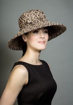 Rachel Trevor-Morgan Taupe Straw Hat Rachel Trevor Morgan 1e4b5fe2e4f8
