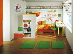 Cute toddler basketball room.