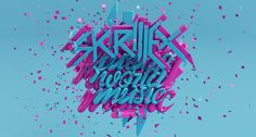 Skrillex Future World Music - 3D Typography Design Modelling