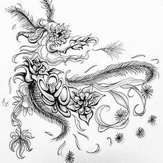 花龍 | Dragon of Blossom #doodle #fineline #horticulture