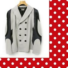 JUNYA WATANABE COMME des GARCONS__Gray x Black Polyester Jacket_2013 S/S__size S