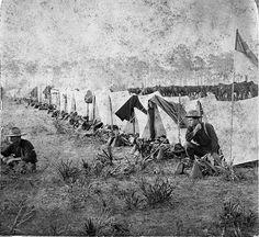 Street of Company E at the Rough Riders' camp: Tampa, Florida Old Florida, Vintage Florida, State Of Florida, Tampa Florida, Tampa Bay, Military Photos, Military History, Guerra Hispano-americana, Puerto Rico