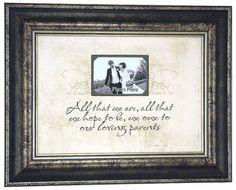 PARENTS Custom Wedding Sign Gift Weddings by PhotoFrameOriginals, $79.00