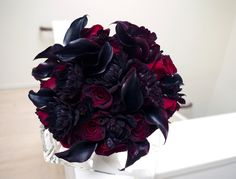 Southern Blue Celebrations: Black Wedding Bouquet Ideas