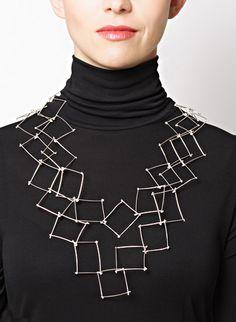 Necklace | Gillian Batcher.  'Long Twig'