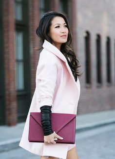 Coat clutch and gloves