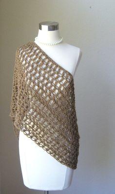 Brown Infinity Scarf Fashion Neckwarmer Crochet by marianavail, $18.99