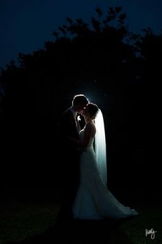 backlit night wedding shot god is this gorgeous or what