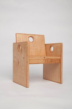 Wooden Toddlers Chair by fastindustries on Etsy