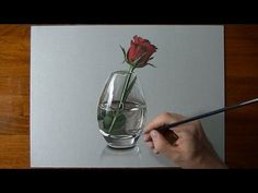 How to Draw a Glass of Water/ 3D painting anamorphic illusion (dibujar bien paso a paso) - YouTube