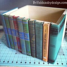 #DIY Hidden Book Storage