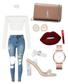 """""""Untitled #27"""" by lluviagb on Polyvore featuring Yves Saint Laurent, Kimberly McDonald, Lime Crime and Marc by Marc Jacobs"""