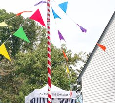 Maypole at a Kidsmart Carnival Party