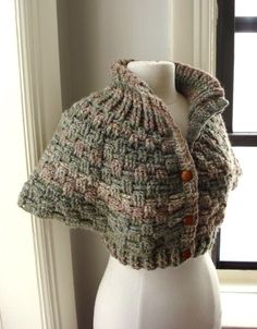 "Another ""capelet"" $125. I may have to attempt one of these... I love the texture & shape."