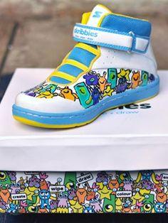 Skribbies design your own kids shoes